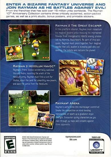 Rayman Fanpage Rayman 10 Anniversary Games
